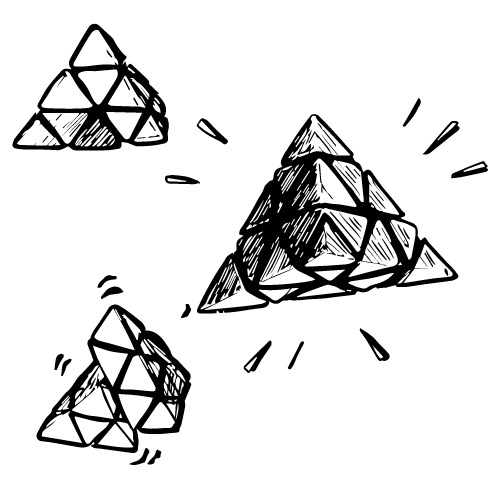 PYRAMID 3D MECHANICAL PUZZLE GAME