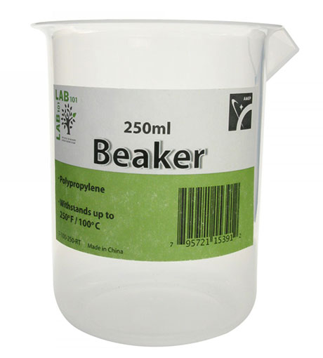 PLASTIC BEAKER, 250 ML
