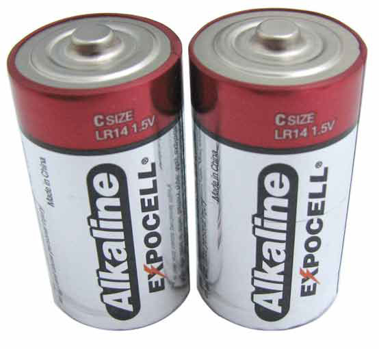"2-PACK ""C"" ALKALINE BATTERIES"