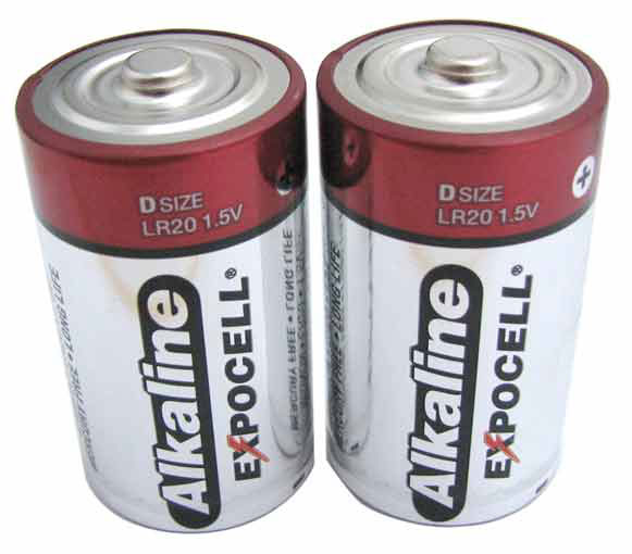 "2-PACK ""D"" ALKALINE BATTERIES"