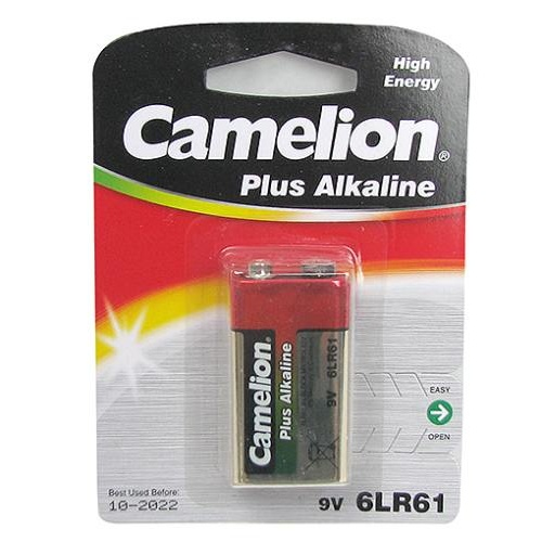 1-PACK 9-VOLT ALKALINE BATTERY