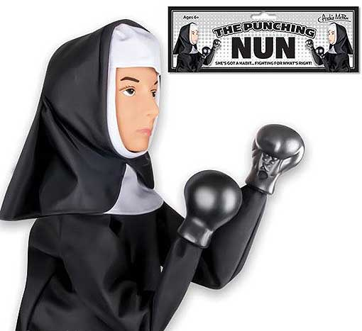 PUNCHING NUN PUPPET
