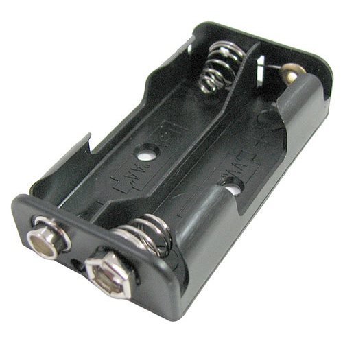 AA x 2 HOLDER, 3 Volts, 9-Volt Style Snap