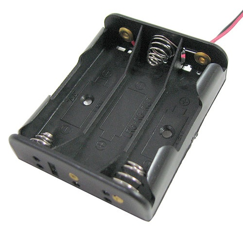 AA x 3 HOLDER, 4.5 Volts, Leads