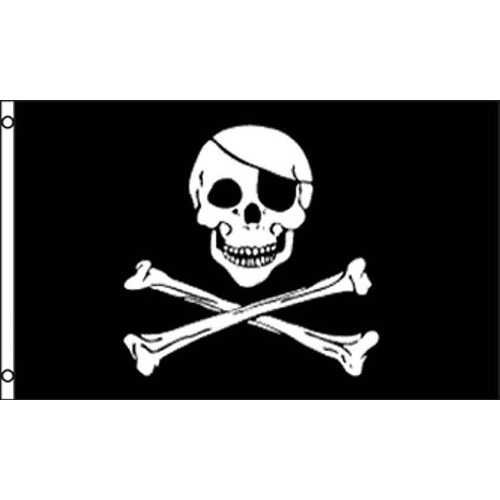 SKULL AND CROSSBONES PIRATE FLAG