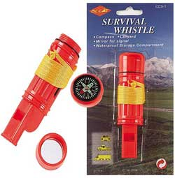 SURVIVAL WHISTLE COMPASS COMBO