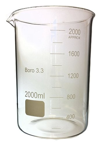 BEAKER, 2000ML, HEAT RESISTANT GLASS, 190MM X 130MM