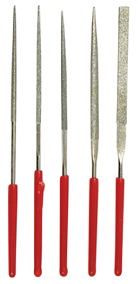 "5 PIECE 3-1/8"" DIAMOND FILE SET"