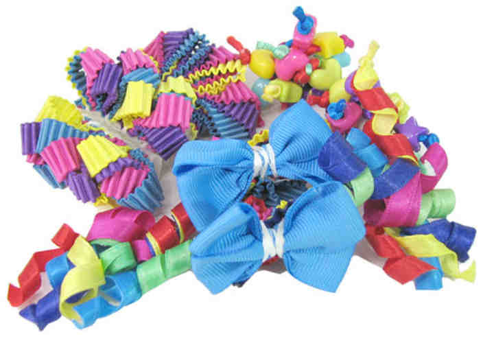 ASSORTED DECORATIONS RIBBONS, TASSELS AND BEADS