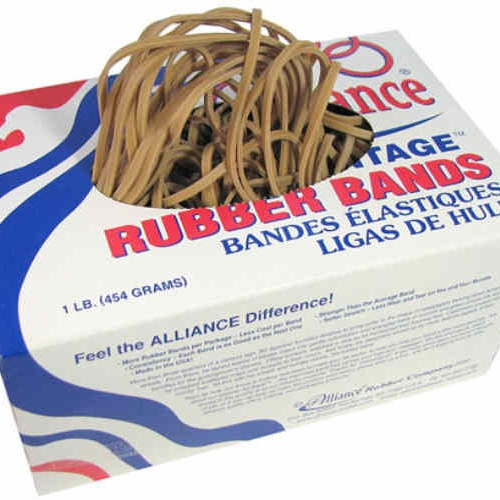 "7"" LONG 1/8"" RUBBER BANDS 1LB BOX"