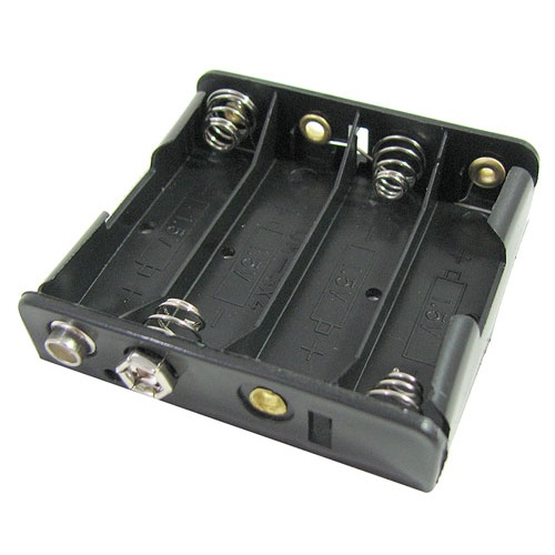 AA x 4 HOLDER 6 Volt, 9-Volt Style Snap