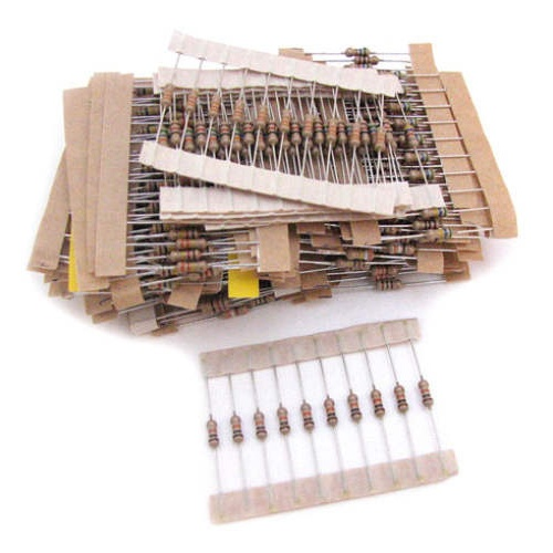 480-PACK OF 1/4 WATT, 5%-TOLERANCE RESISTORS
