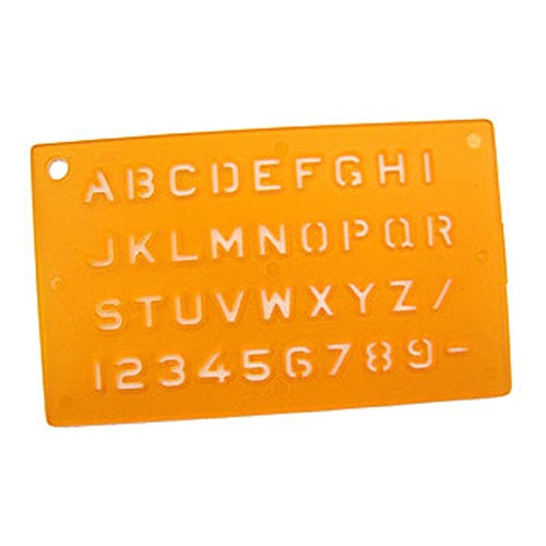 ALPHA STENCIL, 250-PACK SAVINGS