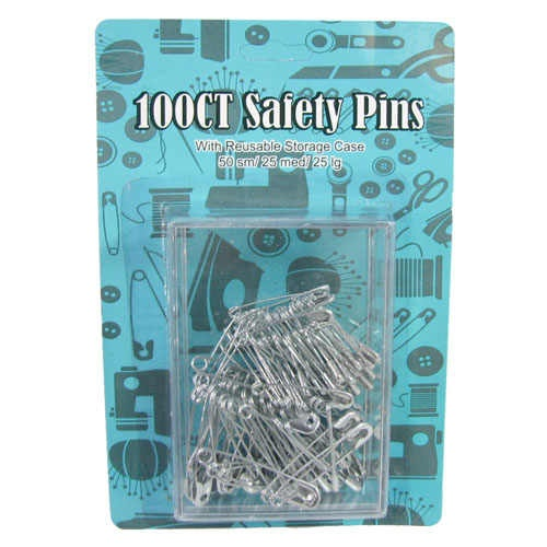 100 ASSORTED SAFETY PINS