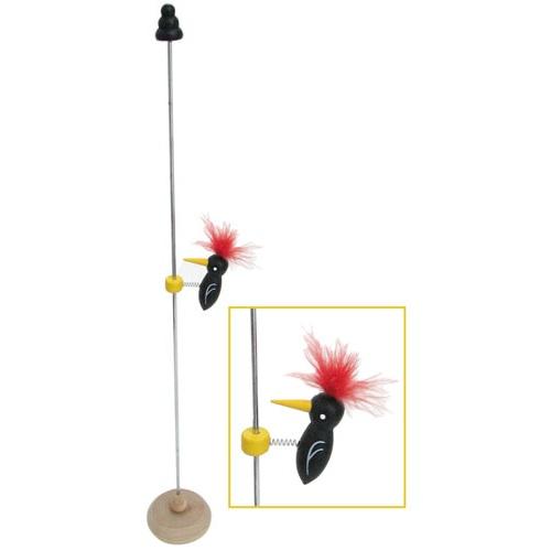 METAL WOODPECKER TOY