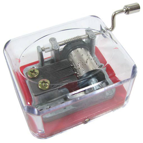 ASSORTED HAND CRANK MUSIC BOX MOVEMENTS