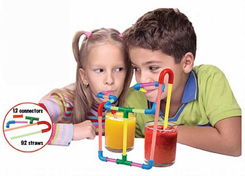 FUN STRAWS MODULAR DRINKING STRAW PARTS