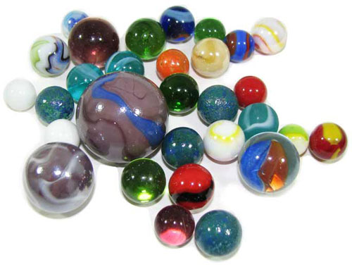 HALF POUND OF MARBLES
