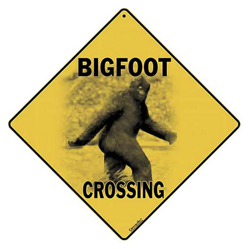 ALL METAL BIGFOOT CROSSING SIGN