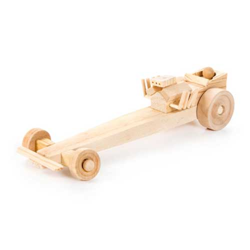 WOODEN DRAGSTER MODEL KIT