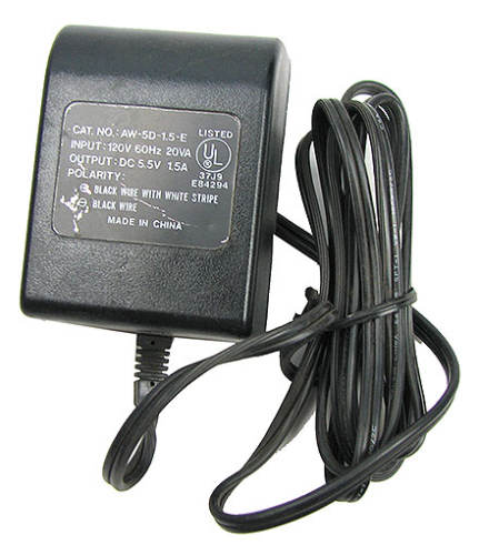 ADAPTER, 5.5VDC / 1.5Amp / 4-1/2' CORD NO PLUG