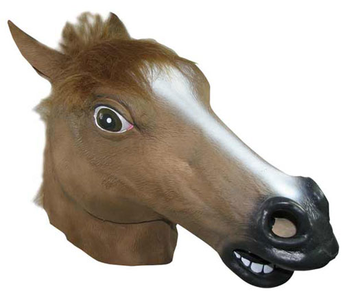 RUBBER HORSE'S HEAD MASK