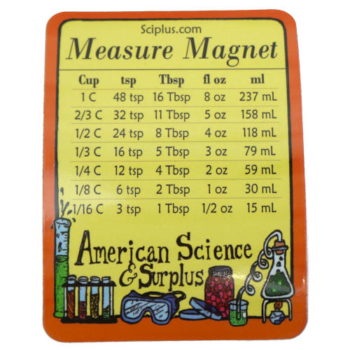 KITCHEN MEASUREMENT CONVERSION MAGNET