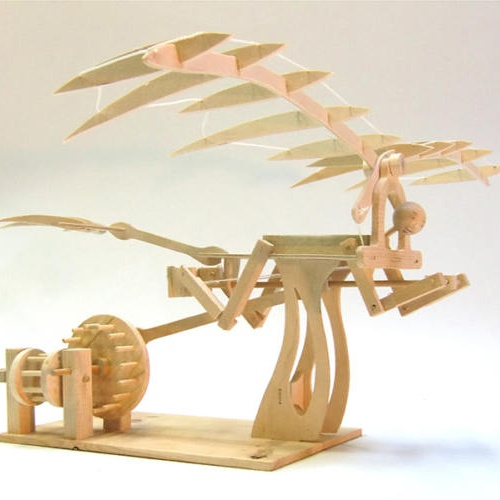 WOODEN ORNITHOPTER MODEL KIT