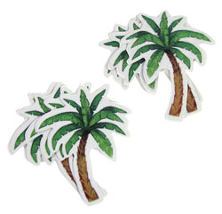 ADHESIVE PALM-TREE-SHAPED SAFETY TREADS