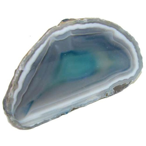 SLICED-OPEN-AND POLISHED AGATE