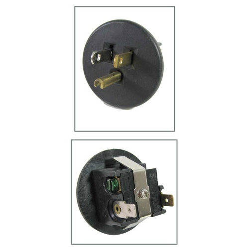 "15A PANEL-MOUNT PLUG WITH 2"" DIA FACE"
