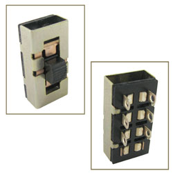 DPDT SLIDE SWITCH W/2 EXTRA POSITIONS