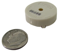 "7/8"" DIA PIEZO BUZZER WITH 2 RADIAL LEADS"