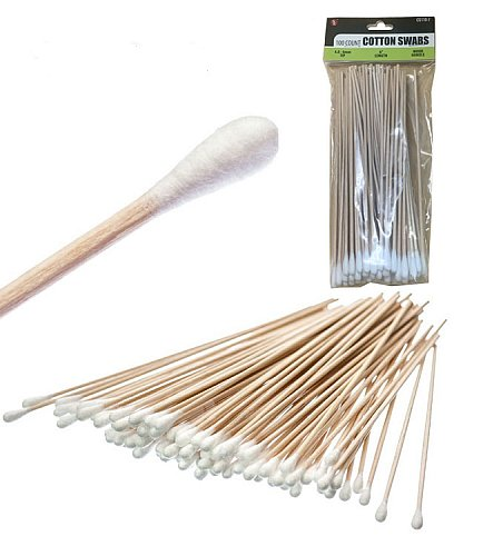 LONG COTTON & WOOD TECH SWABS