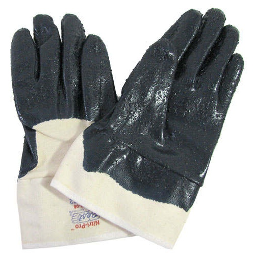 NITRILE-DIPPED COTTON WORK GLOVES