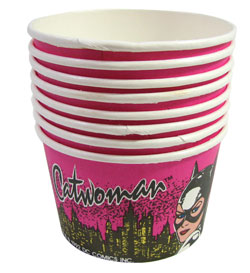COLLECTIBLE 1992 CATWOMAN ICE CREAM CUPS