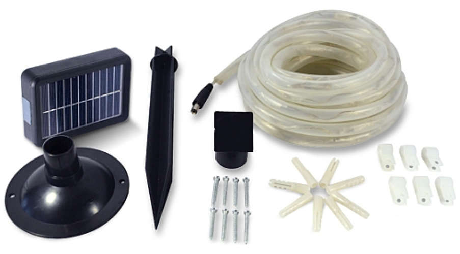 RECHARGEABLE LED ROPE LIGHT SOLAR-POWERED