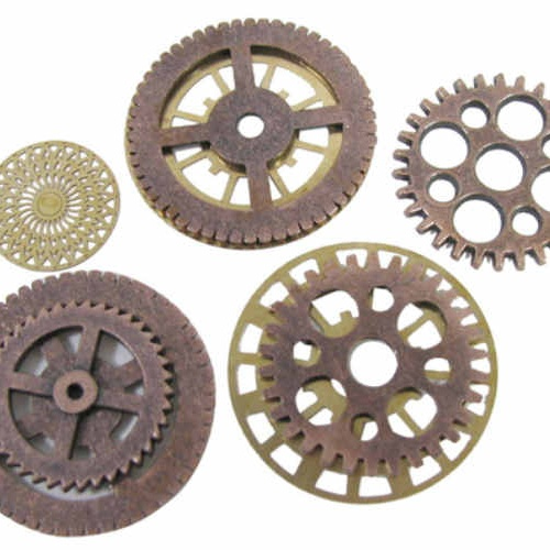 ASSORTED SMALL STEAMPUNK GEARS
