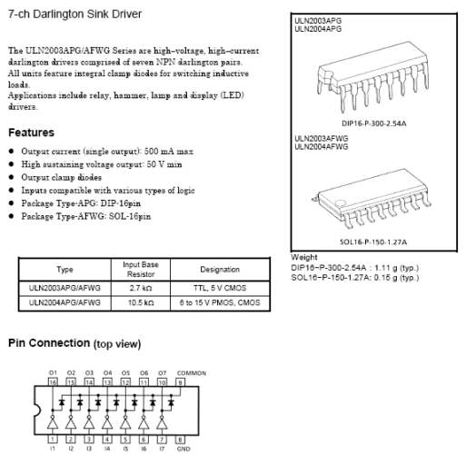 IC, DARLINGTON, NPN ARRAY-7, ULN2003         (IBP)