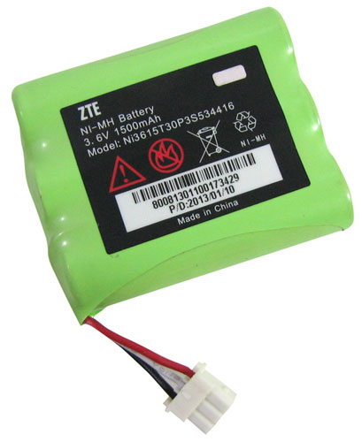 3.6 VOLT RECHARGEABLE NiMH BATTERY PACK