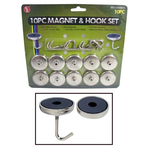 MAGNETIC HOOKS 10 PIECE SET
