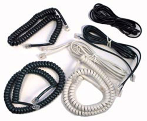 ASSORTED COLORED TELEPHONE CORD SETS