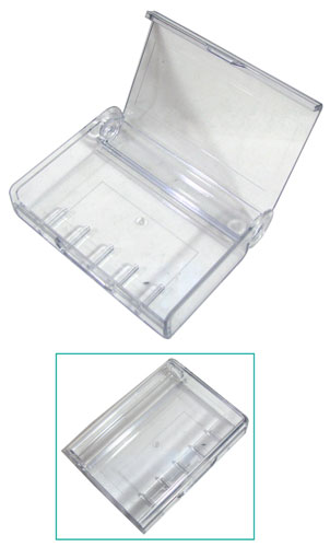 FLIP-OPEN HINGED CLEAR CASES