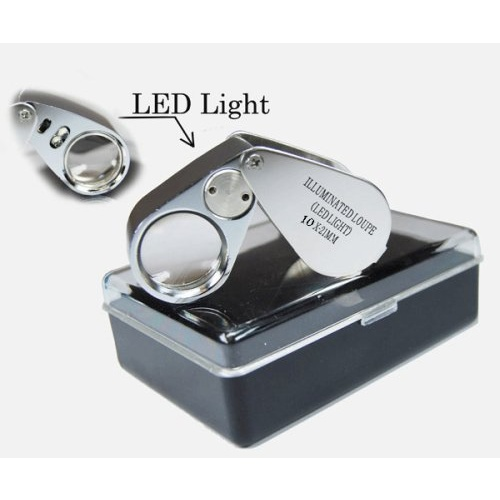 10X FOLDING LOUPE WITH LED LIGHTS