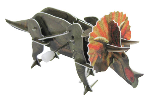WIND-UP TRICERATOPS PUZZLE