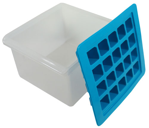 ICE CUBE TRAY AND HOLDER