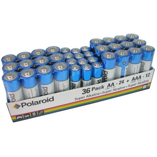 POLAROID ASSORTED ALKALINE BATTERIES