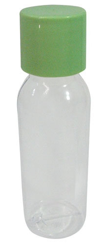 1.5 OZ GREEN-CAP PLASTIC BOTTLES