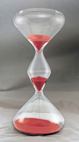 RED HALF-HOURGLASS