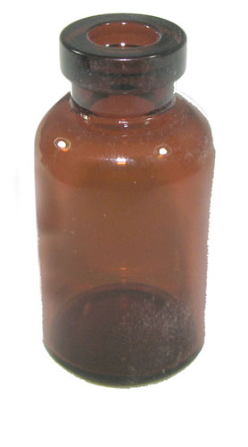 5ML AMBER BOTTLE 21mm Dia. X 39mm Tall SLEEVE OF (294)